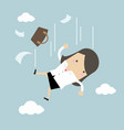 businesswoman is falling from sky vector image