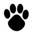 cartoon animal paw print vector image