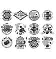 casino and gambling emblems labels badges vector image vector image