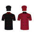 chef uniform shirt and hat vector image vector image