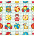 child toy seamless pattern design element vector image