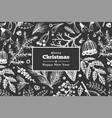 christmas hand drawn greeting card template vector image