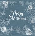christmas sketch hand drawn vector image vector image