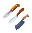 color image set knife a set simple vector image vector image