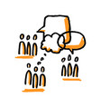 community discussion people and speech bubbles vector image