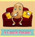Counch potato vector image vector image