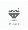 diamond icon on transparent vector image vector image