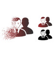 dolor decomposed pixelated halftone users icon vector image vector image