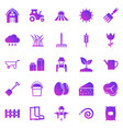 farming gradient icons on white background vector image