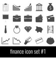 finance icon set 1 gray icons on white vector image
