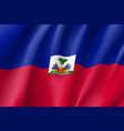 flag haiti realistic icon vector image