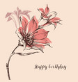 floral bouquet hand drawn ornament for festive vector image vector image