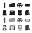 game console and virtual reality blackmonochrome vector image vector image
