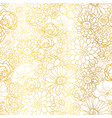 golden flowers texture pattern vector image