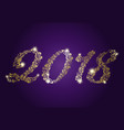 golden numbers 2018 happy new year vector image