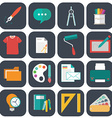 Graphic web design icons flat style vector image vector image