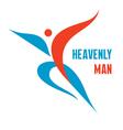 Heavenly Man - Creative Logo Sign vector image