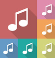 Icon of music note vector image vector image