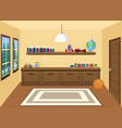 interior room in the house vector image vector image