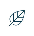 leaf linear outline icon or logo isolated on vector image vector image