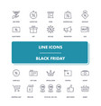 line icons set black friday vector image vector image