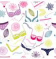 lingerie seamless pattern vector image