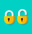 lock open and lock closed icons flat vector image