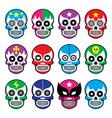 Lucha Libre - sugar skull masks icons vector image vector image