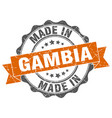 made in gambia round seal vector image vector image