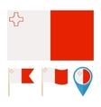 Malta country flag vector image vector image