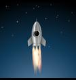 metal rocket soars vector image vector image