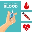 monitoring Blood design medical and healthcare vector image vector image