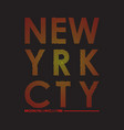 new yrk cty t-shirt vector image vector image