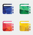 notepad icon Abstract Triangle vector image vector image