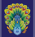 peacock coloring book anti-stress vector image vector image