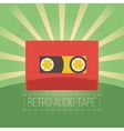 Retro audio tapes in flat style vector image