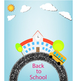 school and back to school vector image vector image