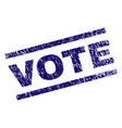 scratched textured vote stamp seal vector image vector image