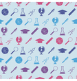 Seamless background with school icons vector image vector image