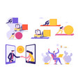 set male and female business people corporate vector image vector image