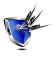 Silver Shield lightning vector image vector image