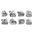 spanish museum tailor shop and olive icons vector image