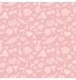 Sweet Pink Valentine Pattern vector image