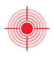target pain localization red circle icon vector image