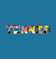 tennis concept word art vector image vector image