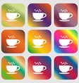 The tea and cup icon vector image