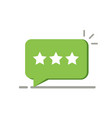 three rating star like positive feedback concept vector image vector image