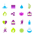 water wellness and Zen icons vector image vector image