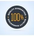 Quality guaranteed badge vector image