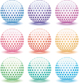 3d globes vector image